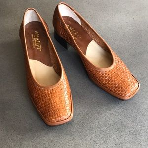 Vintage Amalfi made in Italy woven block heels